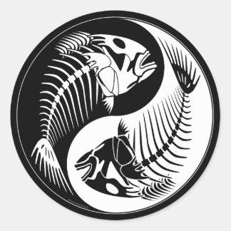 Osso de peixes Yang Adesivo Redondo