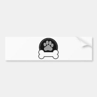 Osso e pata de cão adesivo