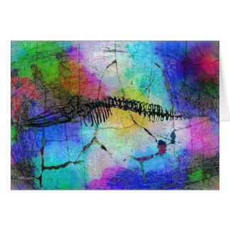 Ossos da baleia no cartão de Psychedel (vazio)