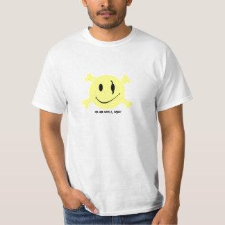 Ossos do smiley: Hip-hop com um t-shirt do sorriso