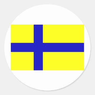 Ostergotland claro, suecia adesivos redondos
