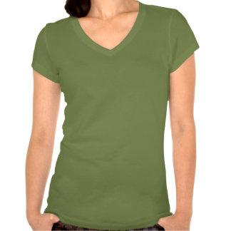 OTOJ + V-pescoço do logotipo da sereia e dos vento T-shirt