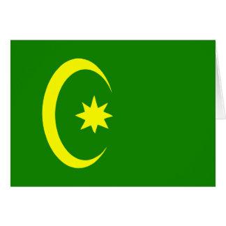Otomano religioso, bandeira religiosa cartão