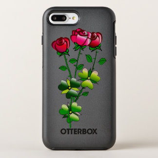 Otterbox com ilustração dos rosas capa para iPhone 7 plus OtterBox symmetry