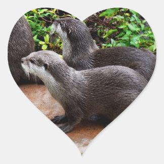 Otterly a bonitos, etiquetas do coração da lontra