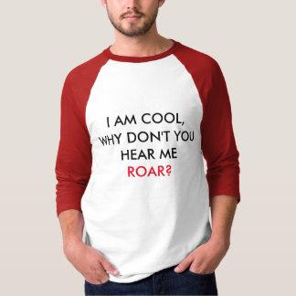 Ouça-me RUJIR! De camisa básica da luva dos homens