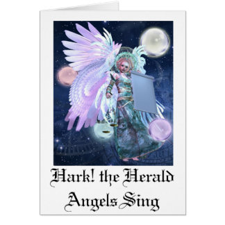 Ouça o cartão de Natal bonito dos anjos do arauto