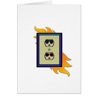 oulet elétrico cartão comemorativo