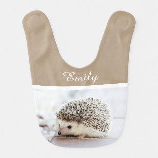 Ouriço bonito do bebê babador de bebe