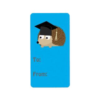 Ouriço da graduação etiqueta de endereço