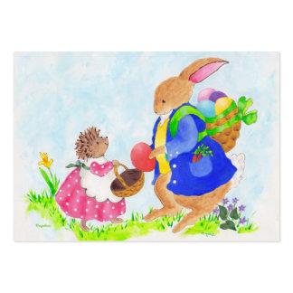 Ouriço do coelhinho da Páscoa e do Heddy Cartão De Visita Grande