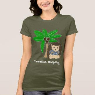 Ouriço e palmeira havaianos camiseta