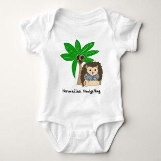 Ouriço e palmeira havaianos tshirt