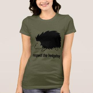Ouriço - respeite o ouriço camiseta