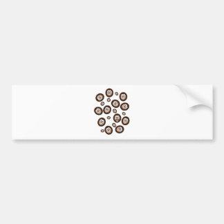 ouriços bonitos adesivo de para-choque