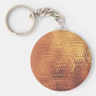 """Ouro 2,25"""" chaveiro básico do botão"""