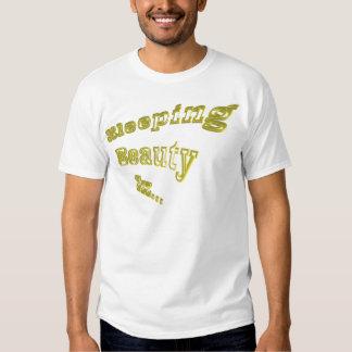 Ouro 3DD da Bela Adormecida ZZZ agradável Tshirt