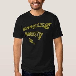 Ouro 3DD da Bela Adormecida ZZZ agradável Tshirts