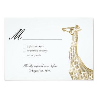 Ouro africano do casamento do jardim zoológico dos convite 8.89 x 12.7cm