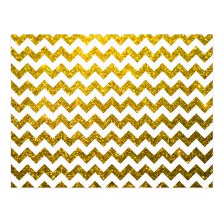 Ouro amarelo de Chevron do brilho Cartao Postal