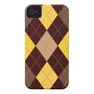 Ouro amarelo na moda retro Brown de Argyle Capinha iPhone 4