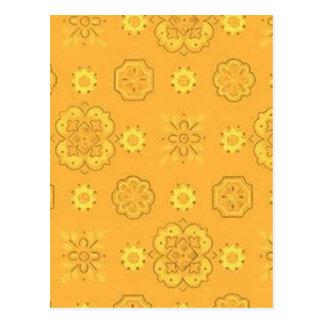 Ouro amarelo retro cartoes postais