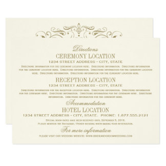 Ouro antigo do cartão de detalhes | do casamento convite 11.30 x 15.87cm