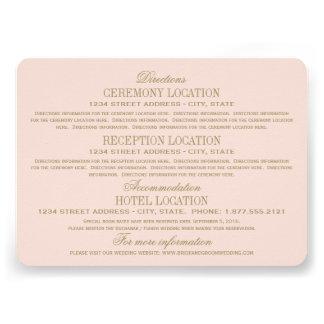 Ouro antigo dos cartões de informação | do casamen convites personalizado