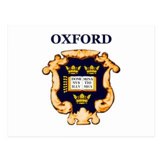 Ouro azul da chapa de Oxford os presentes de Cartão Postal