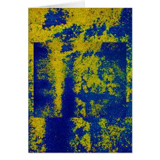 Ouro azul II Cartão Comemorativo