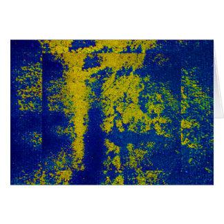 Ouro azul III Cartão Comemorativo