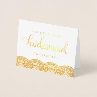 Ouro bonito do laço você será meu cartão da dama