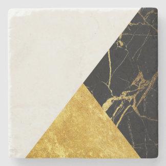 Ouro branco e porta copos de pedra de mármore