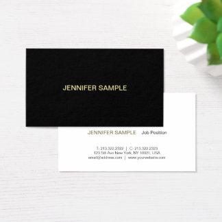Ouro branco preto elegante profissional moderno cartão de visitas