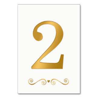 Ouro brilhante elegante número metálico 2 do falso cartão