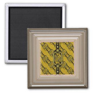 ouro brilhante encantador das correntes (i) ímã quadrado