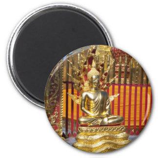Ouro Buddha de Wat Phrathat Doi Suthep Ímã Redondo 5.08cm