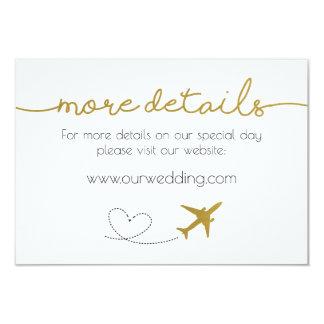 Ouro, cartão de detalhes temático do casamento do