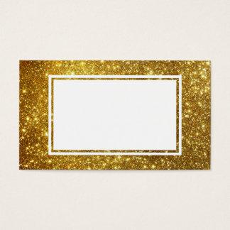 Ouro & cartão de visita customizável branco