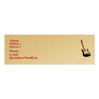 Ouro, cartão fino do perfil cartão de visita skinny