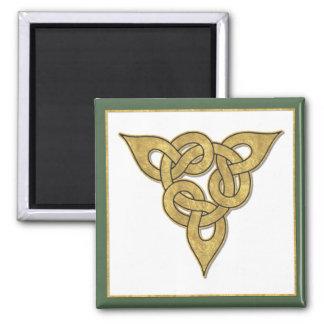 Ouro celta ímã quadrado