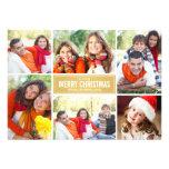 Ouro Chevron do cartão de Natal | da colagem da Convite Personalizados