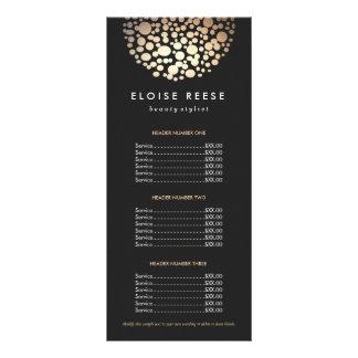 Ouro chique moderno menu preto circundado da 10.16 x 22.86cm panfleto