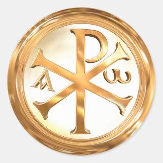 Ouro Christogram Adesivo