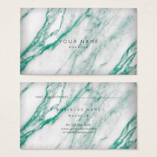 Ouro cinzento do cartão da nomeação do mármore do