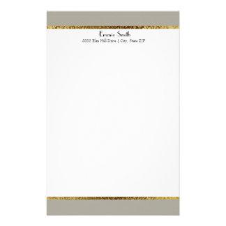 Ouro cinzento e artigos de papelaria