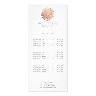 Ouro cor-de-rosa do logotipo elegante da mandala panfleto