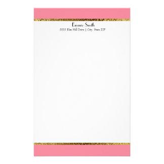 Ouro cor-de-rosa e artigos de papelaria