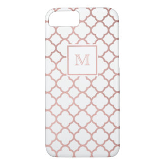 Ouro cor-de-rosa e capa de telefone branca do