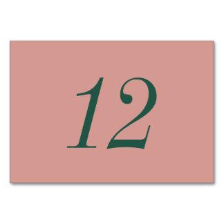 Ouro cor-de-rosa e cartões florais verdes da mesa